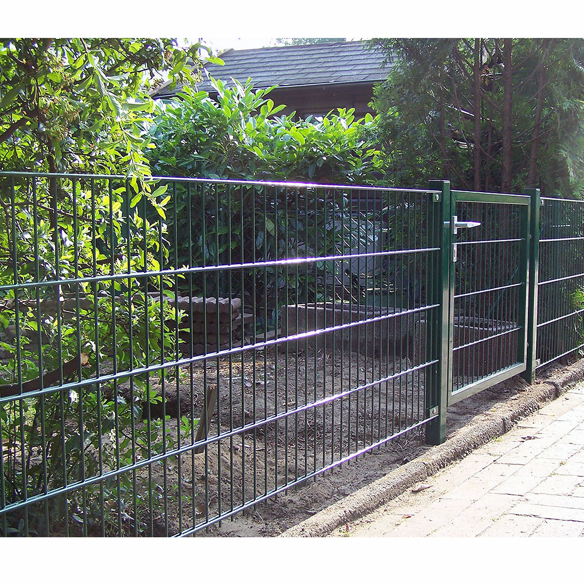 20 m Gittermattenzaun Doppelstab 83 cm grün Zäune Gitterzaun