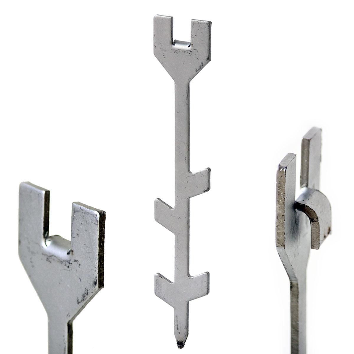 Einschlagpfosten für Maschendraht H= 80 cm inkl Bodenhülse