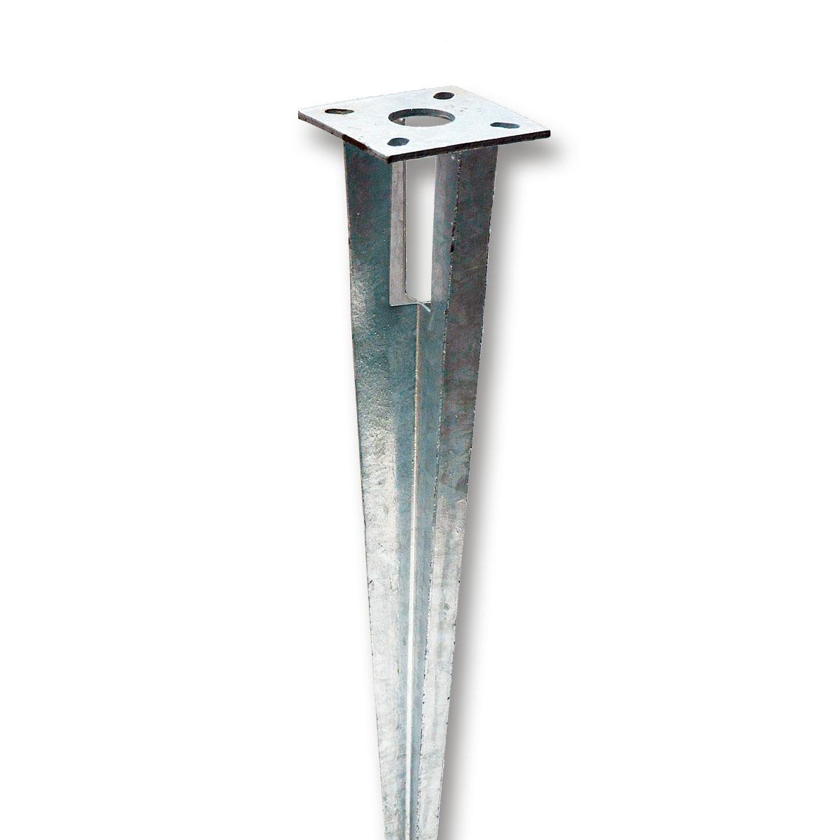 Bodenhülse Einschlaghülse 34 mm Pfostenträger Kopfplatte Strebe Maschendrahtzaun