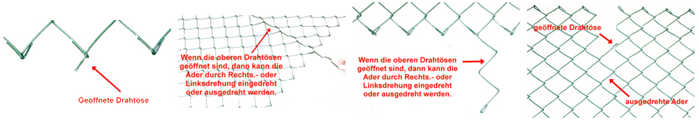 Zaun-Nagel - Montageanleitung Maschendrahtzaun