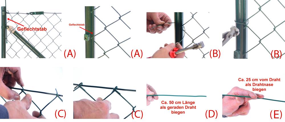 Beliebt Zaun-Nagel - Montageanleitung Maschendrahtzaun KK15