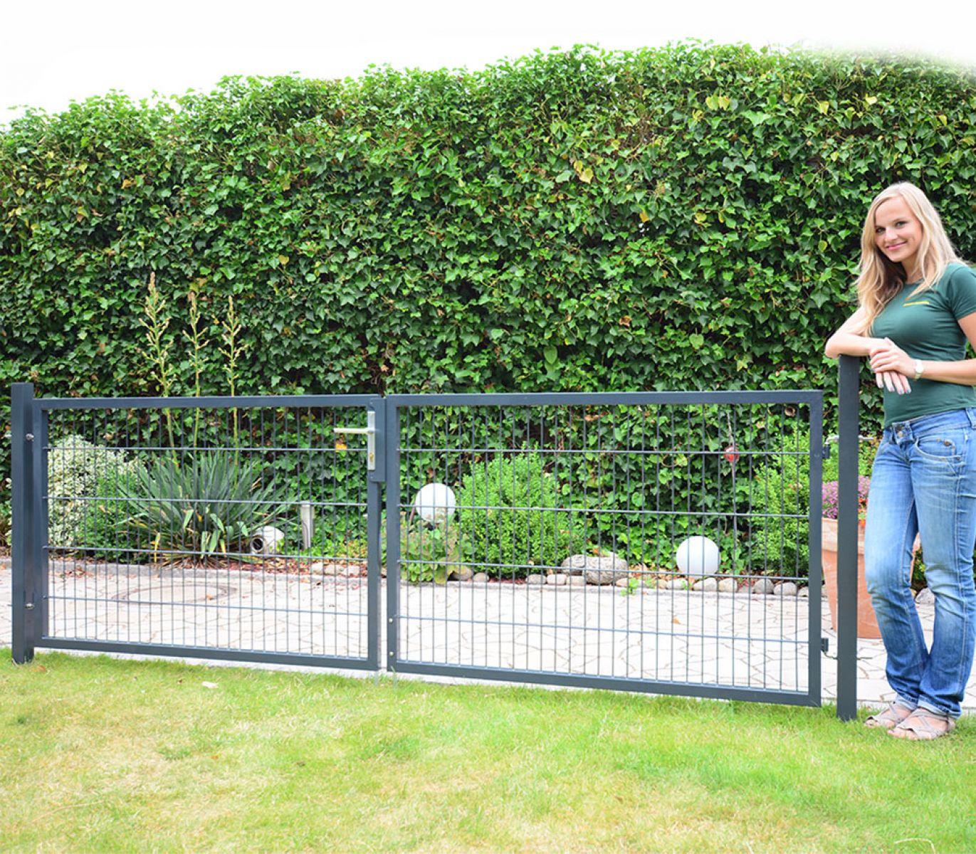 Zaun Nagel Gartentur Und Gartentor Fur Doppelstabzaun
