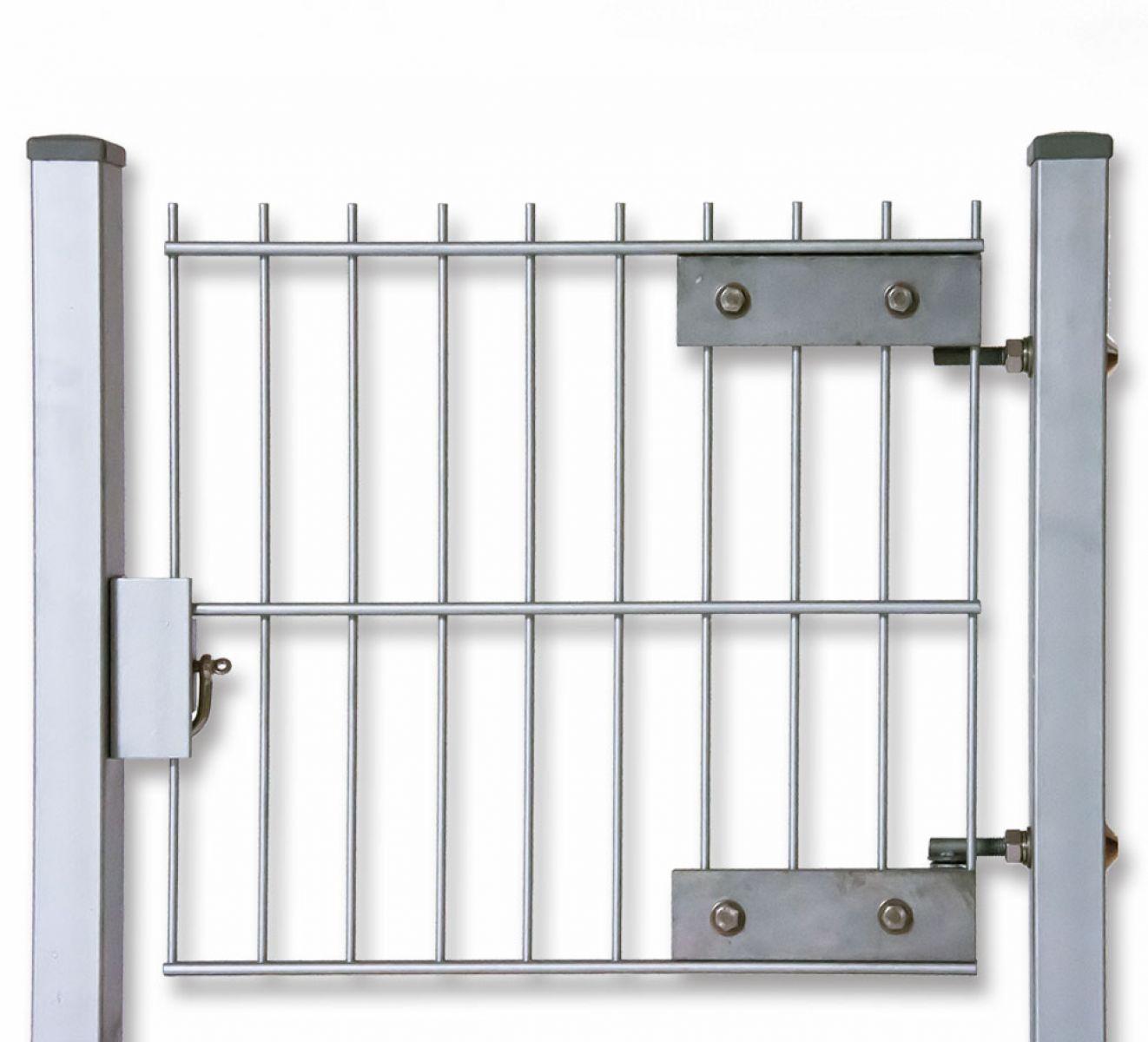 Zaun Nagel Umbaubeschlag für Doppelstab Zaun Gartentür